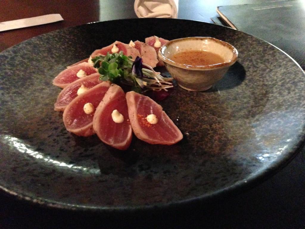 Sushia tuna tataki with miso aioli