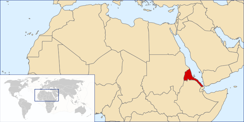 Eritrea in the northern parts of Africa
