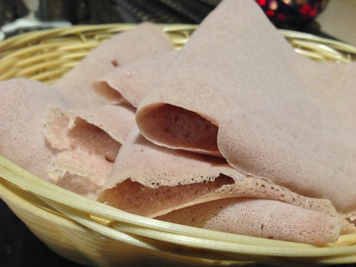 Enjera - A flatbread eaten with dishes of the Eritrean cuisine