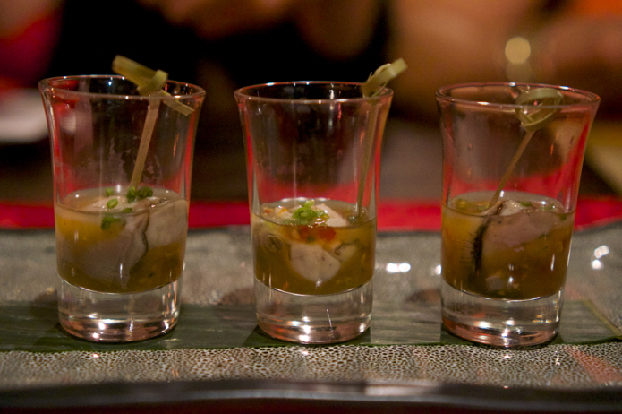 Red Opium Oyster Shooters