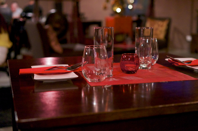 The table setting at Red Opium