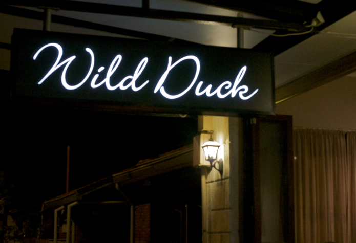 Wild Duck Restaurant Exterior Neon Sign
