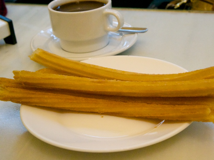 Churros in the early morning