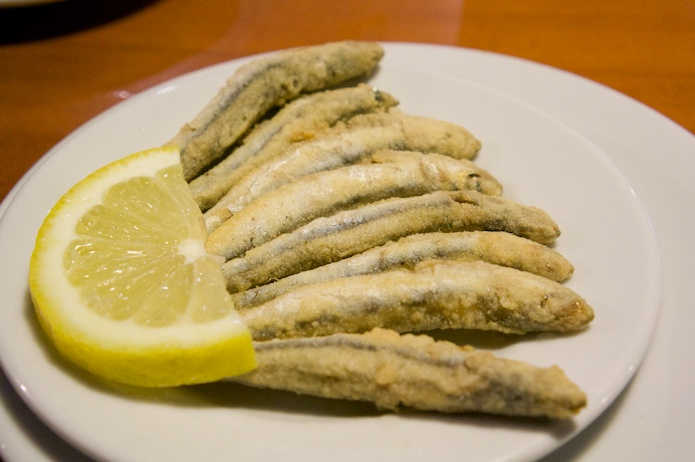 Deep-fried anchovies from Malaga