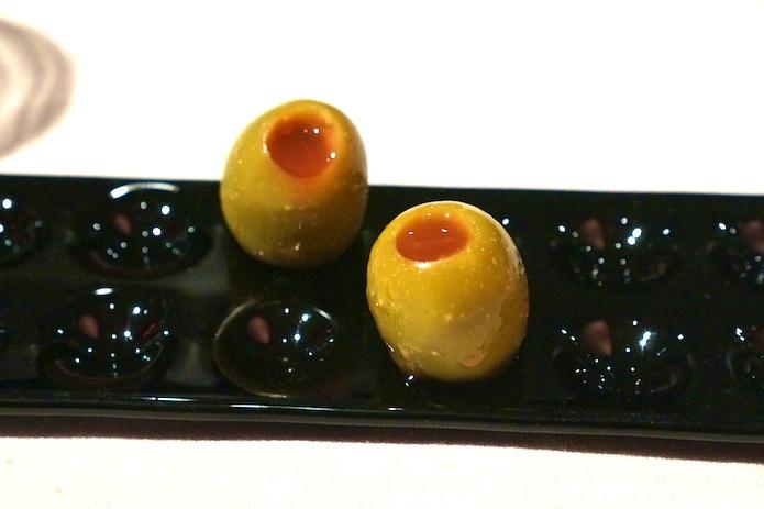 Campari and orange olives