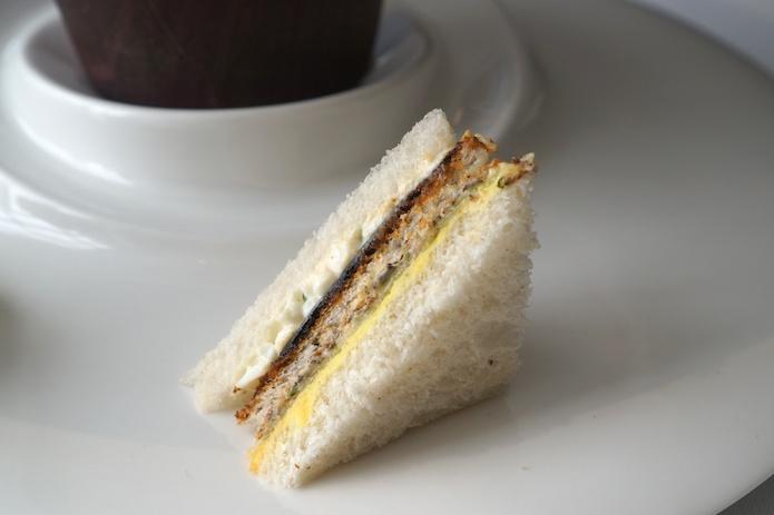 A toast sandwich - Truffle, lettuce, cinnamon cream and toast