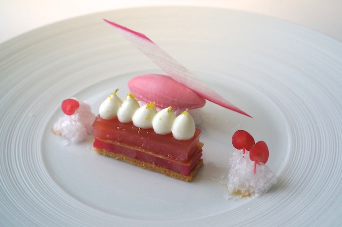 Rhubarb, bergamot and sheep's milk yoghurt