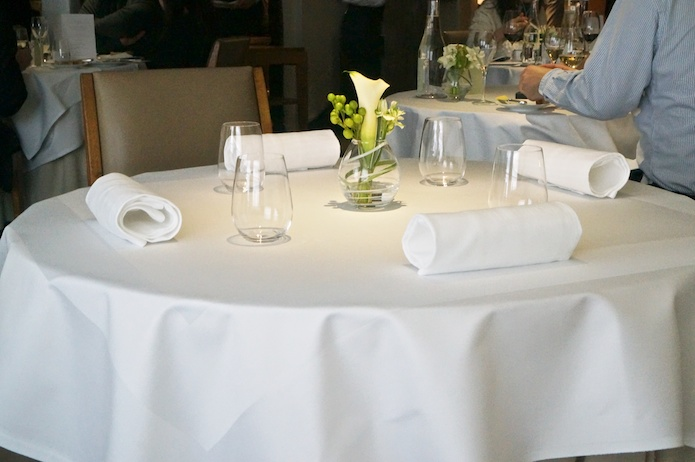 The table setting. Simple and ordinary, yet the meal to come was anything but.