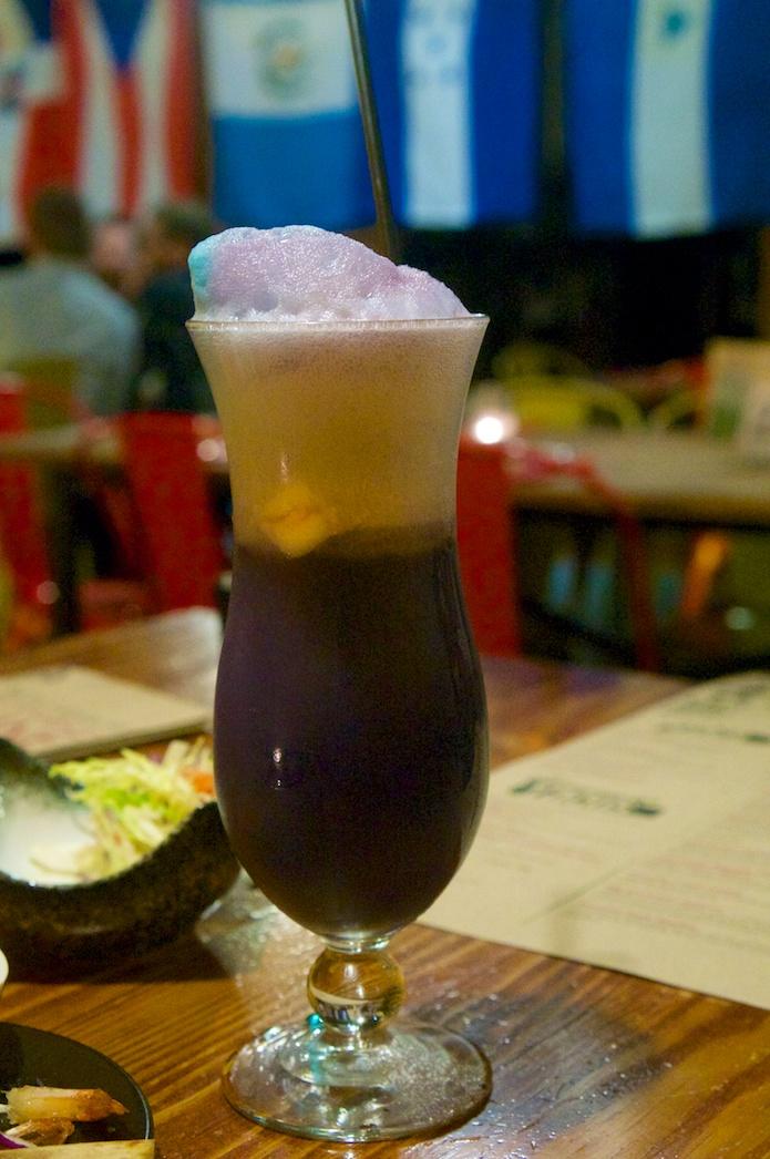 Expecto Patronum - A potion of vodka, vanilla ice cream, blue curacao, and pop rocks