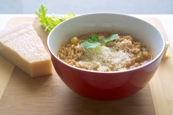Abruzzese Celery and Rice Minestrone