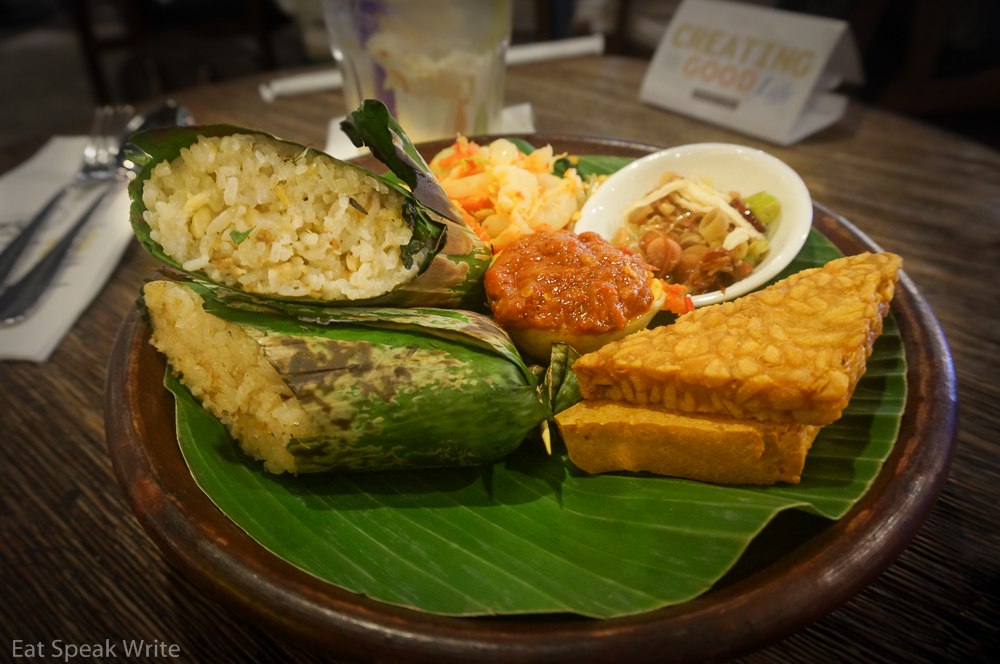 Nasi bakar from The People's Cafe in the Grand Indonesia mall
